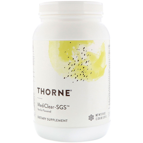 Thorne Research, Mediclear-SGS de vainilla de 1071 g