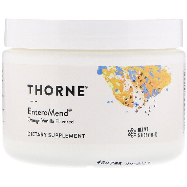 Thorne Research, EnteroMend, Orange Vanilla Flavored, 5.9 oz (168 g)