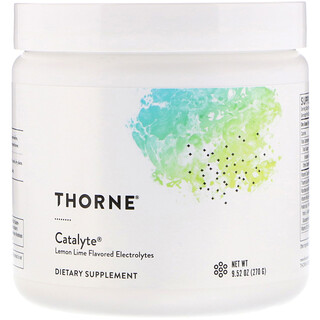 Thorne Research, Catalyte, Lemon Lime Flavored Electrolytes, 9.52 oz (270 g)