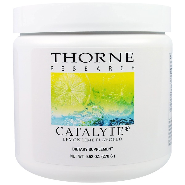Thorne Research, Catalyte, Lemon Lime Flavored, 9.52 oz (270 g)