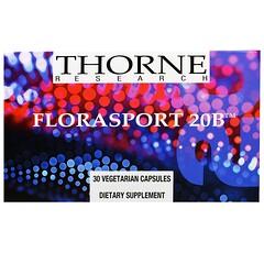 Thorne Research, FloraSport 20B, 30 Vegetarian Capsules