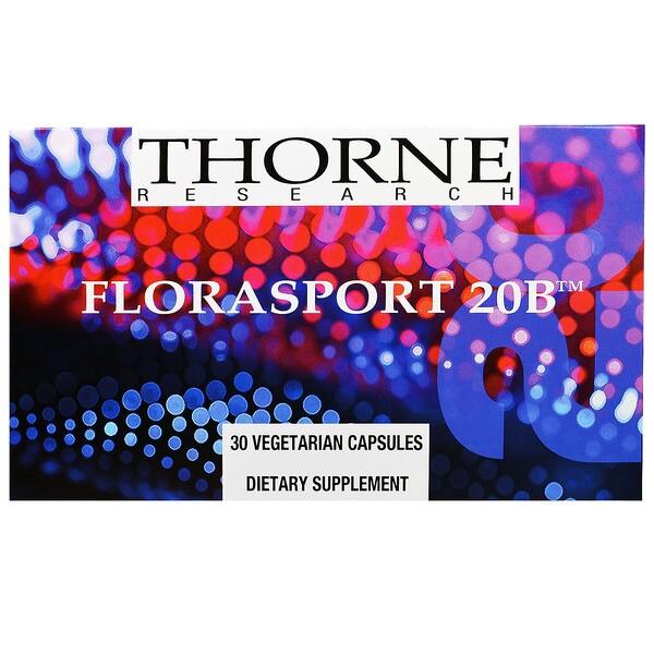 Thorne Research, FloraSport 20B, 30 Vegetarian Capsules (Discontinued Item)