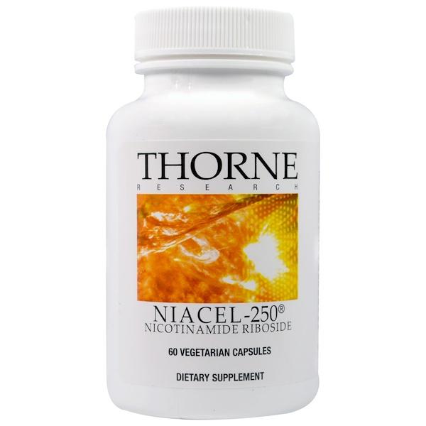 Thorne Research, Niacel-250, Nicotinamide Riboside, 60 Vegetarian Capsules