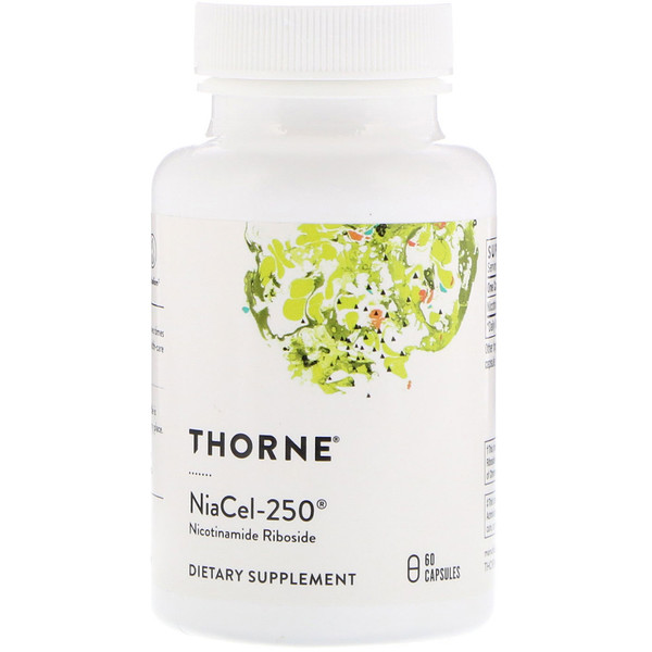 Thorne Research, Niacel-250, никотинамидрибозид, 60 капсул