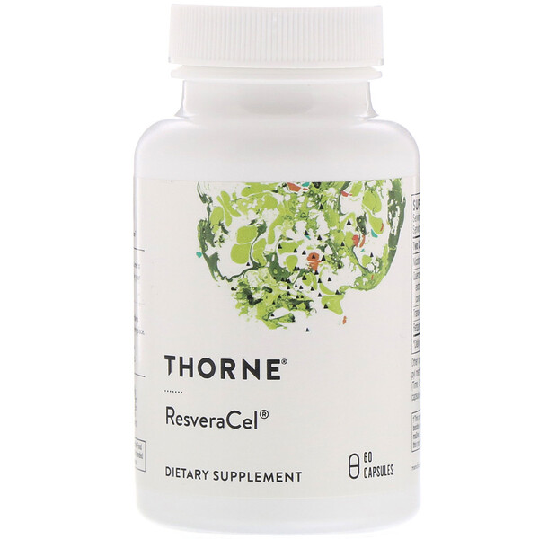 Thorne Research, ResveraCel, Nicotinamide Riboside (Niagen) with Resveratrol and Cofactors, 60 Capsules