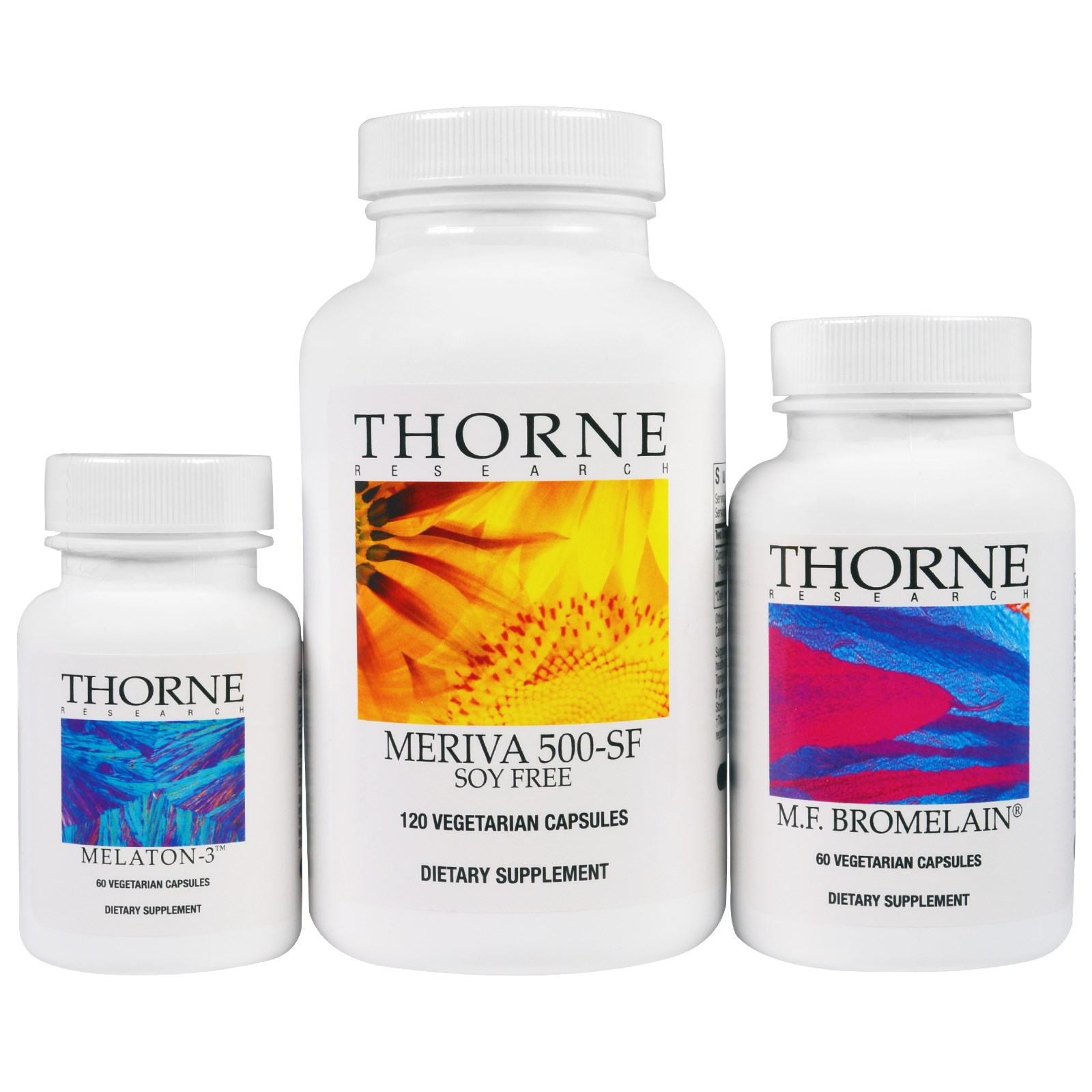 Thorne Research, Пищевые добавки, комплект из 3 препаратов
