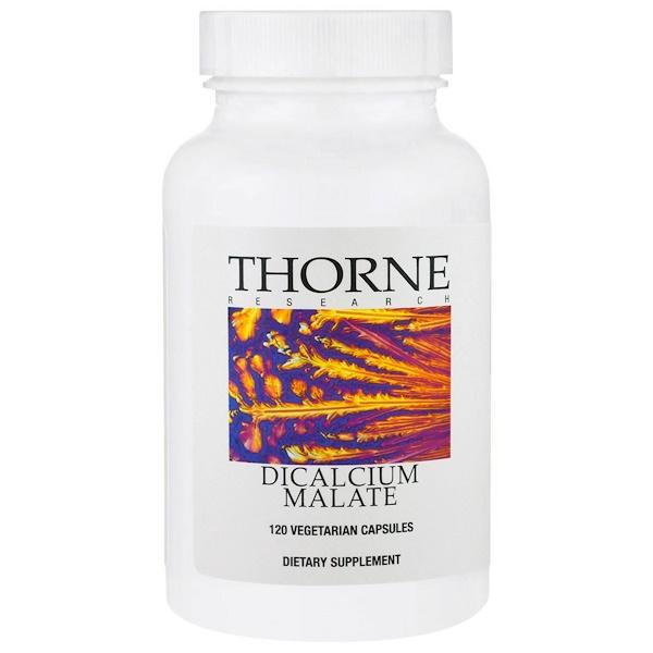 Thorne Research, Dicalcium Malate, 120 Vegetarian Capsules