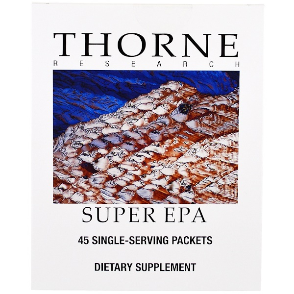 Thorne Research, Super EPA, 45 Single Serving Packets (Discontinued Item)