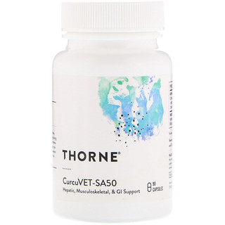 Thorne Research, CurcuVET-SA50, 90 Capsules