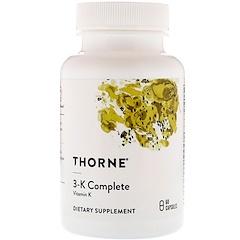 Thorne Research, 3-K Complete,60 粒膠囊