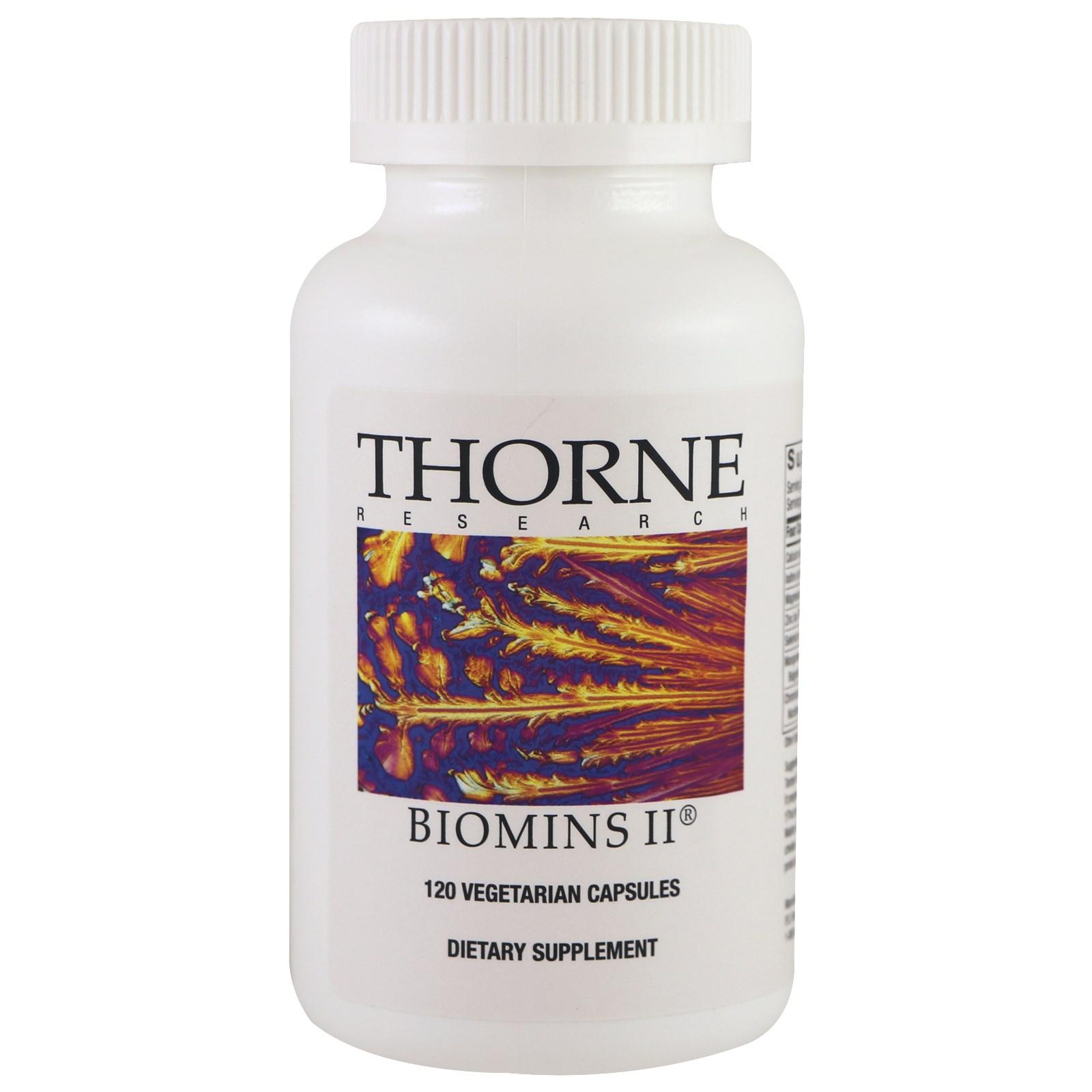 Thorne Research, Biomins II, 120 растительных капсул