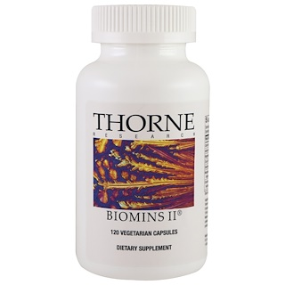 Thorne Research, Biomins II, 120 Vegetarian Capsules