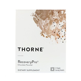Thorne Research, RecoveryPro, Chocolate Flavored, 12 Packets, 1.1 oz (32 g) Each