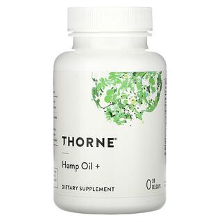 Thorne Research, Hemp Oil +, 30 Gelcaps