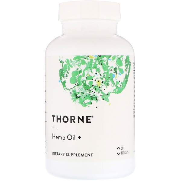 Thorne Research, Hemp Oil +, 30 Gelcaps