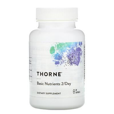 Купить Thorne Research Базовые питательные вещества для приема 2 раза в день, 60 капсул