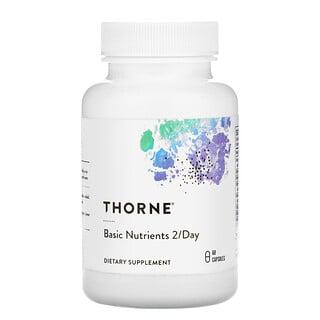 Thorne Research, базовые питательные вещества для приема 2 капсул в день, 60капсул