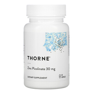 Thorne Research, Zinc Picolinate, 30 mg, 60 Capsules