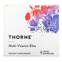 Thorne Research, 複合維生素精華,早晚使用,2 瓶,每瓶 90 粒膠囊