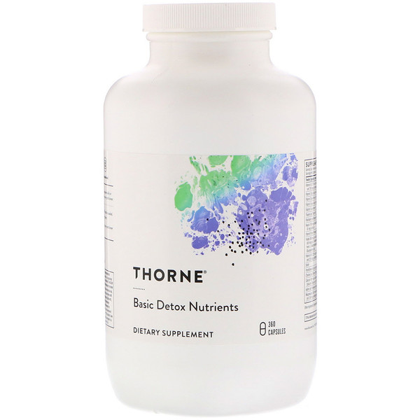 Thorne Research, Basic Detox Nutrients, 360 вегетарианских капсул