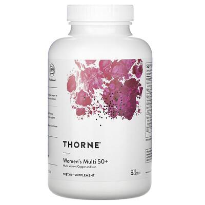 Купить Thorne Research Women's Multi 50+, 180 Capsules