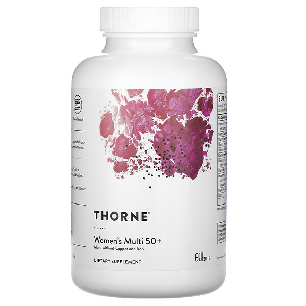 Thorne Research, Women's Multi 50+, 180 Capsules