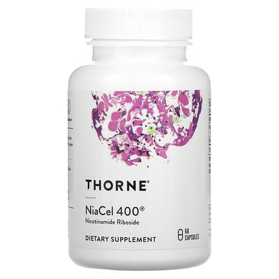 Купить Thorne Research NiaCel 400, 60 Capsules