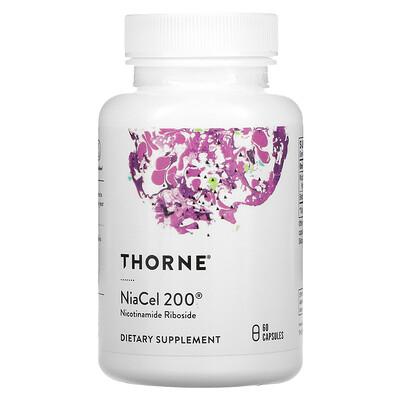 Купить Thorne Research NiaCel 200, 60 Capsules