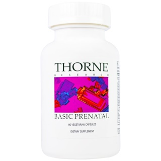 Thorne Research, Basic Prenatal, 90 Vegetarian Capsules