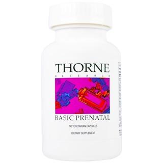 Thorne Research, Basic Prenatal, 90 капсул растительного происхождения