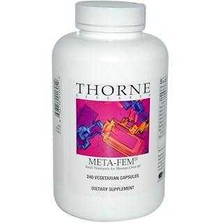 Thorne Research, Meta-Fem, 240 Vegetarian Capsules