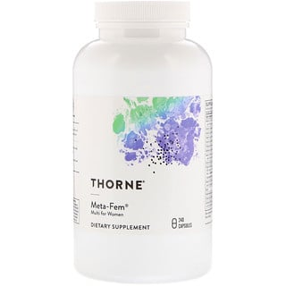 Thorne Research, Meta-Fem, мультивитамины для женщин, 240 капсул