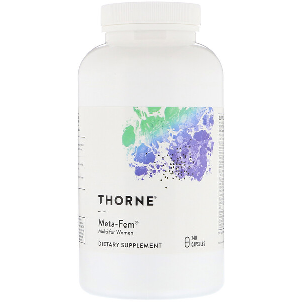 Thorne Research, Meta-Fem, Multi para mujeres, 240 cápsulas (Discontinued Item)