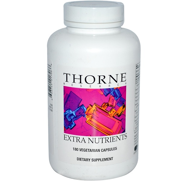 Thorne Research, Extra Nutrients, 180 Vegetarian Capsules