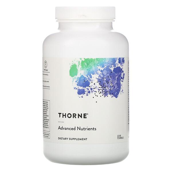 Thorne Research, усовершенствованный состав питательных веществ, 240капсул