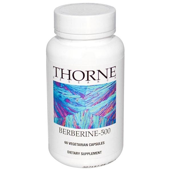 Thorne Research, Berberine-500, 60 Vegetarian Capsules
