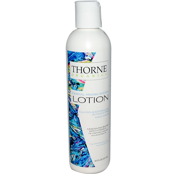 Thorne Research, Thorne Organics, Lotion, Unscented, 8.5 fl oz (251 ml) (Discontinued Item)