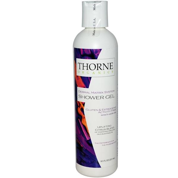 Thorne Research, Thorne Organics, Shower Gel, Uplifting Citrus Blend, 8.5 fl oz (251 ml) (Discontinued Item)