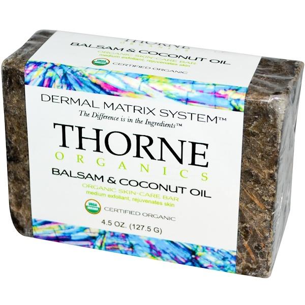 Thorne Research, Organics, Skin-Care Bar, Balsam & Coconut Oil, 4.5 oz (127.5 g) (Discontinued Item)