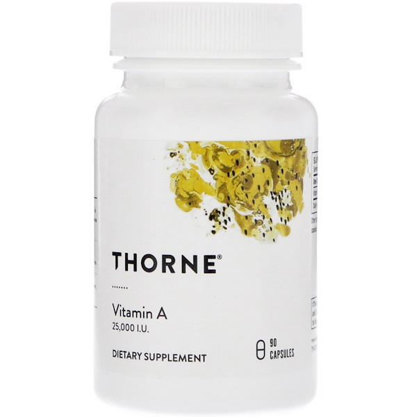 Thorne Research, Vitamin A, 25,000 IU, 90 Capsules (Discontinued Item)