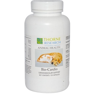 Thorne Research, Animal Health, Bio-Cardio, Cardiovascular Support, 120 Capsules