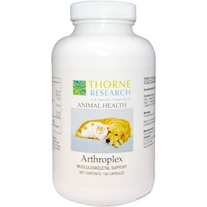 Торн Ресерч, Animal Health, Arthroplex, Musculoskeletal Support, 180 Capsules отзывы