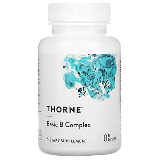 Thorne Research, Complejo básico de vitaminasB, 60cápsulas