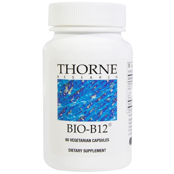 Thorne Research, Bio-B12, 60 Vegetarian Capsules (Discontinued Item)