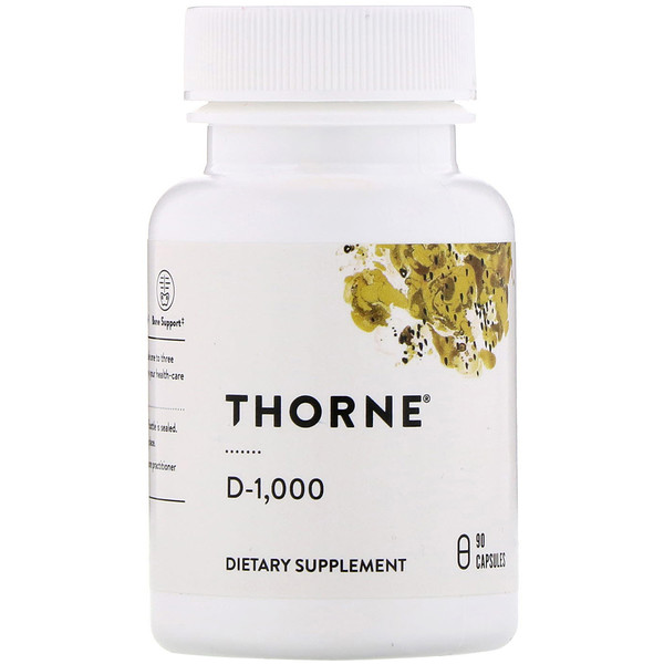 Thorne Research, D-1,000, 90 Capsules