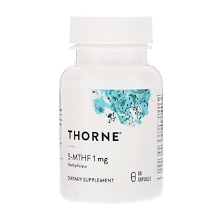 Thorne Research, 5-MTHF, 1 mg, 60 Capsules