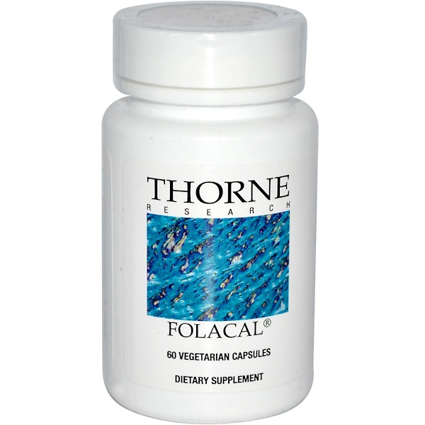 Thorne Research, Folacal, 60 Veggie Caps (Discontinued Item)