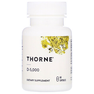 Thorne Research, D-5000, 125мкг (5000МЕ), 60капсул