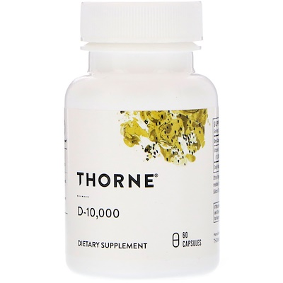Thorne Research D-10000, 250мкг (10000МЕ), 60капсул