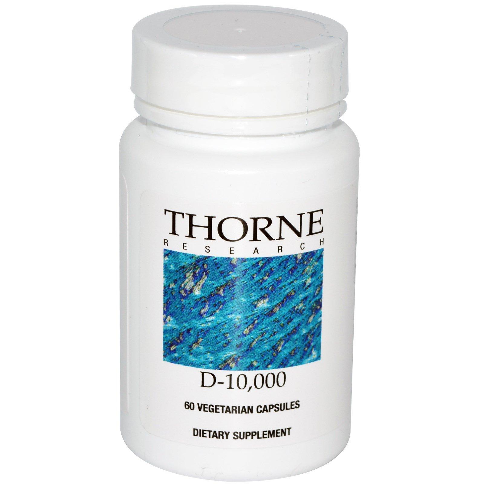 Thorne Research, D-10,000, 60 вегетарианских капсул